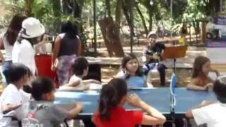 卓球バレーと音楽のコラボです。ブラジル ゴイアニア。 Takkyu volley ....