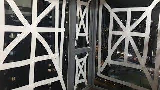 """台风山竹席卷香港 为啥明星们家里都贴上了""""米""""字?"""