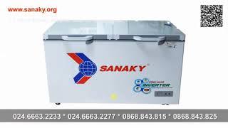 Tủ đông gia đình | Tủ đông Sanaky Inverter 400L | Tủ 1 ngăn 2 cánh dàn lạnh ống đồng