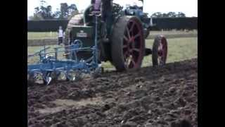 Fowler traction engine ploughing