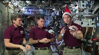 بالفيديو.. رسالة من الفضاء إلى الأرض بمناسبة عيد الميلاد