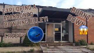 Exploring a very creepy abandoned bowling alley that burnt down!