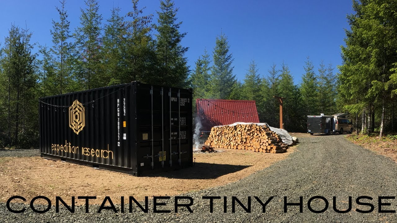 First Look Container Tiny House Build Homestead From