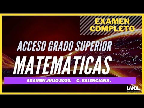 Exámenes completos. Matemáticas