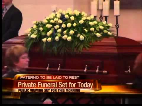 Joe Paterno funeral today