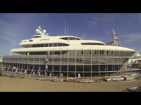 Super Yacht Time lapse video - Sovereign