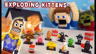 Hello Neighbor DESTROYS Exploding Kittens Construction Sets! thumbnail