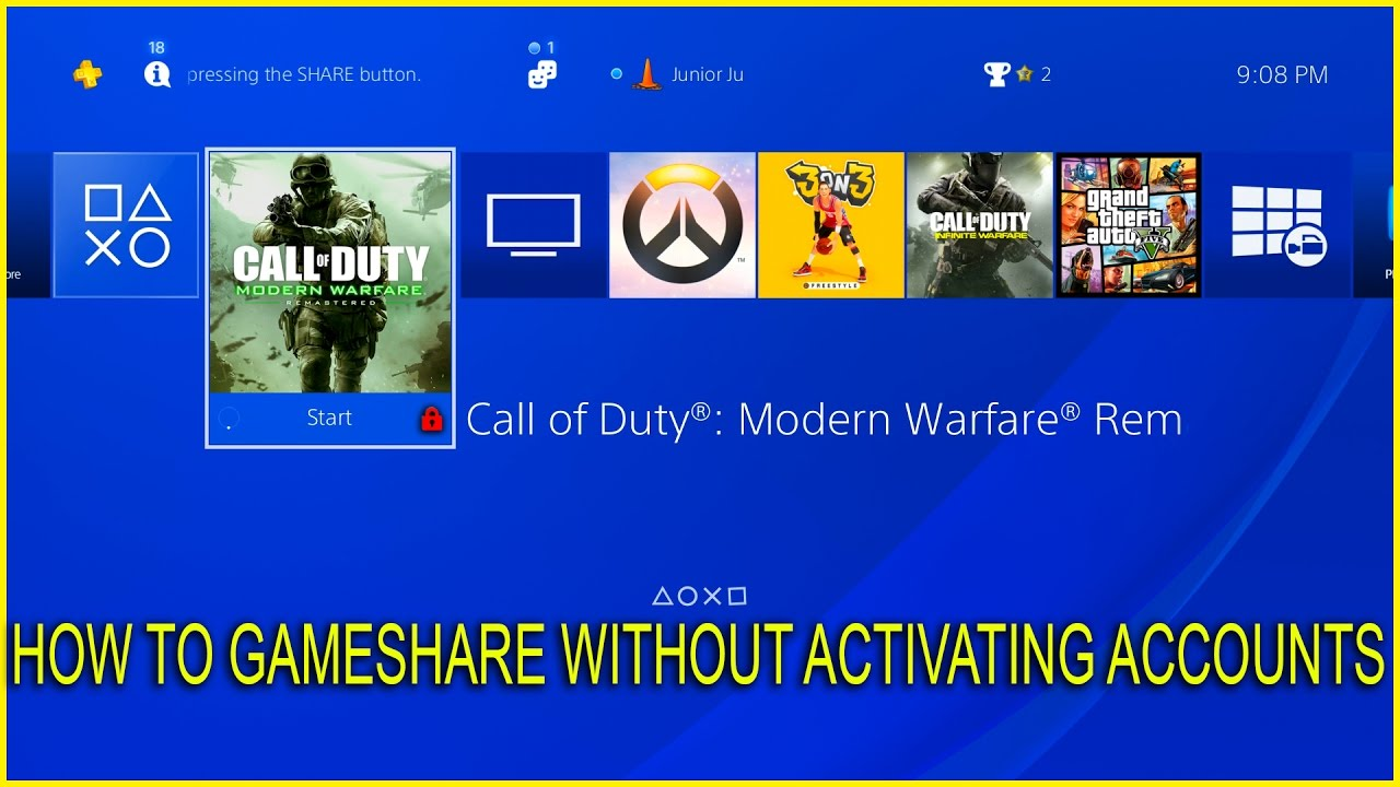 [PS4] Easy How To GameShare Without Activating Accounts