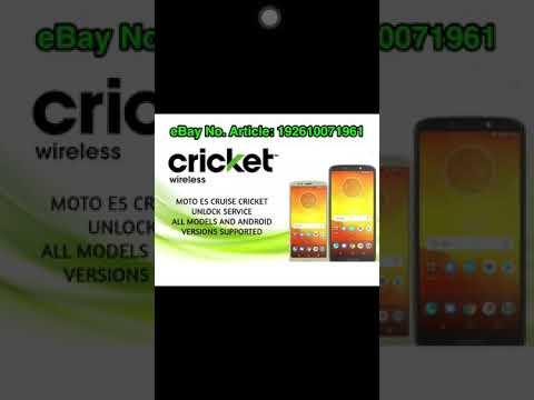 Unlock Motorola Moto E5 Cruise XT1921-2 Cricket Wireless Desbloqueo 100%