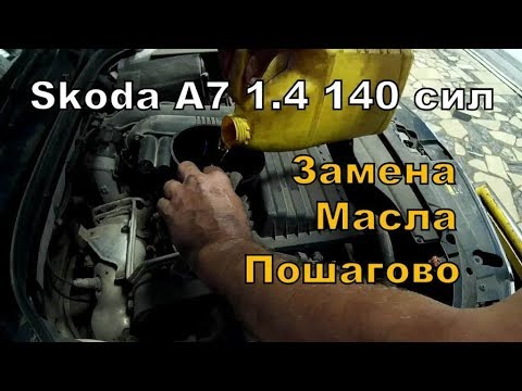 Skoda A7: Меняем масло в Автосервисе.