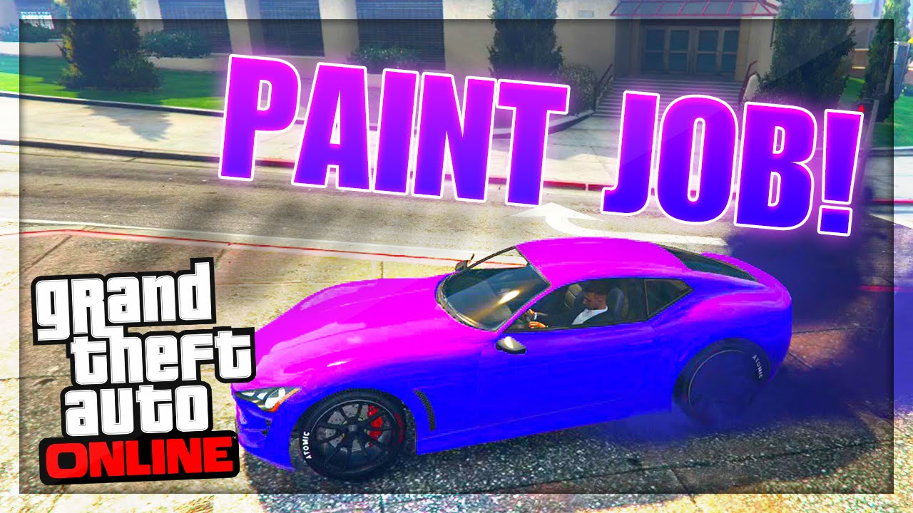 Pink Purple Paint Job Car