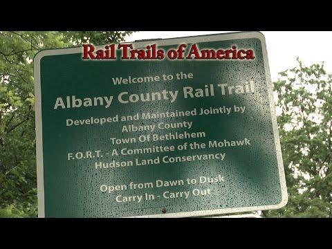 Rail Trails of America - Albany County Rail (Helderberg Hudson) Trail, Slingerlands to Delmar, NY