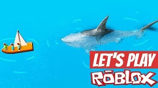 Eaten By A Shark In Roblox - Let's Play Shark Bite + Roblox Virtual Item Codes