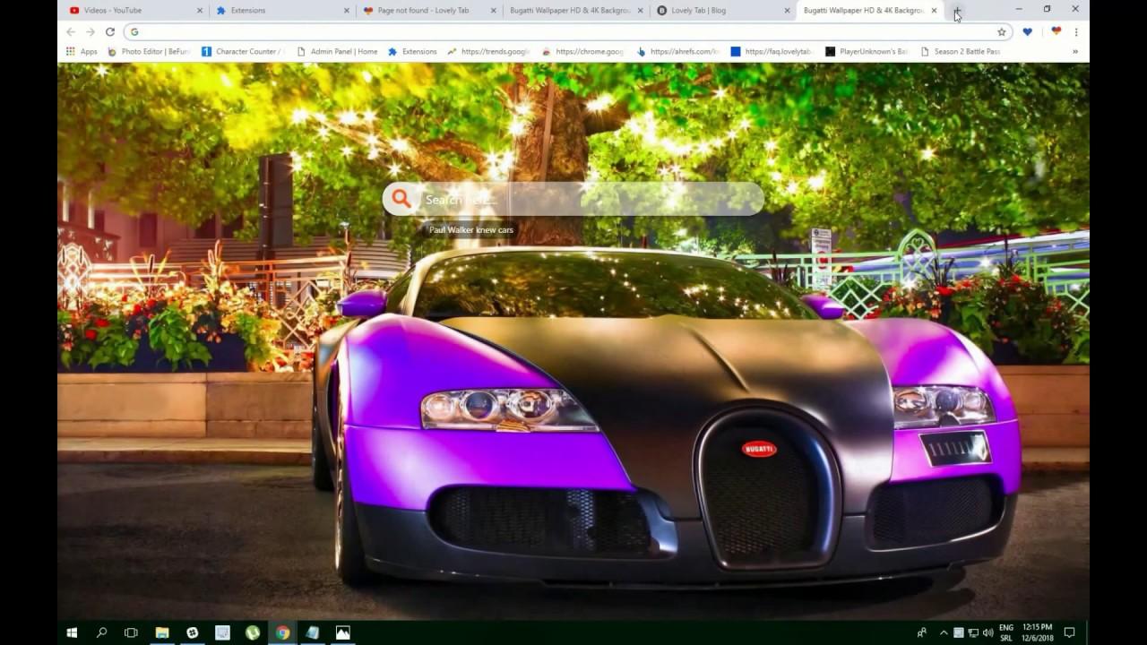 Bugatti Wallpaper Hd 4k Background Theme Youtube