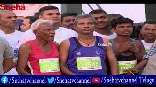 Kinley Vizag Bay Marathon Run at Beach Road in Visakhapatnam   Sneha TV