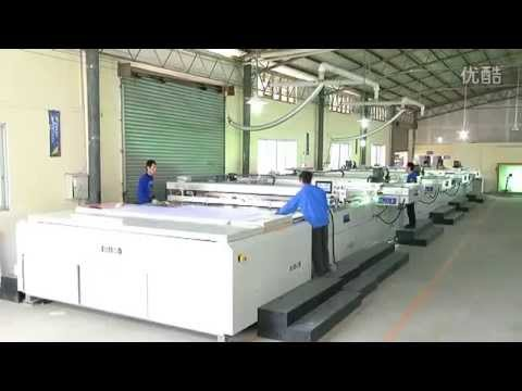 Large Size Four Color Flat Screen Printing Machine with UV Curing