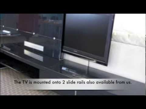 Ikea Cabinet With Automatic Slide Out Tv Mechanism From