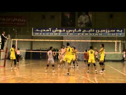 Sadegh Zarei- number 16 yellow shirt  IRAN League