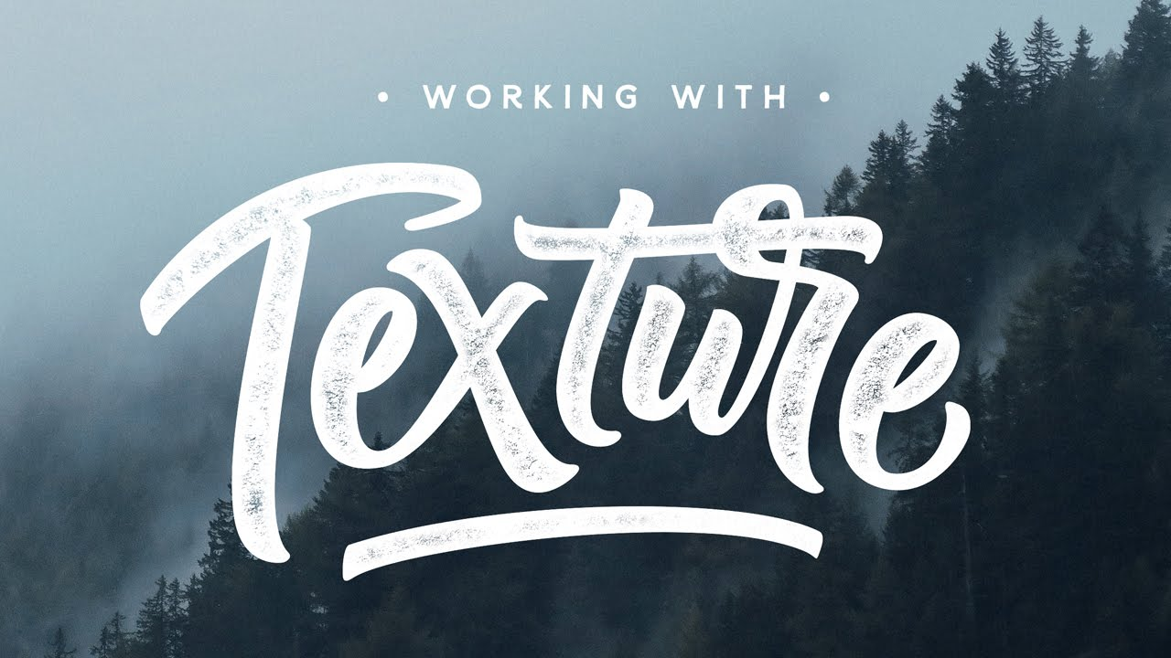 How to add texture to lettering photoshop tutorial youtube ccuart Choice Image