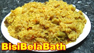 Tasty BisibelaBath or Sambar Sadam Recipe in Tamil | பிசிபெல்லாபாத்