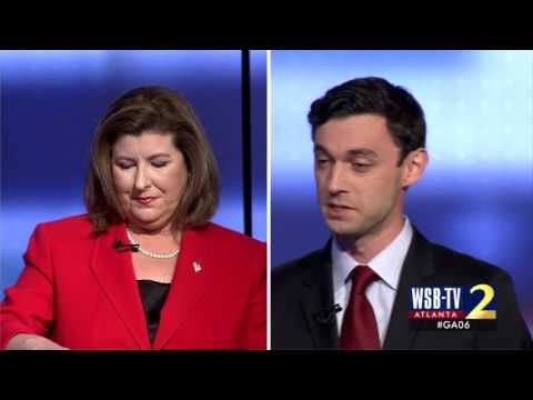 Jon Ossoff asks Karen Handel about Susan G. Komen
