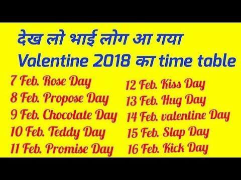 2018 Valentine Week List Dates And Schedule Valentine Week 2018