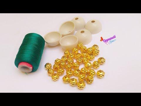How Make Beautiful Silk Thread Pearl Drop Earrings At Home | DIY | Silk Thread Jhumkas Making