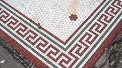 Greenwood Mississippi: Old Tile Floors from Demolished Buildings