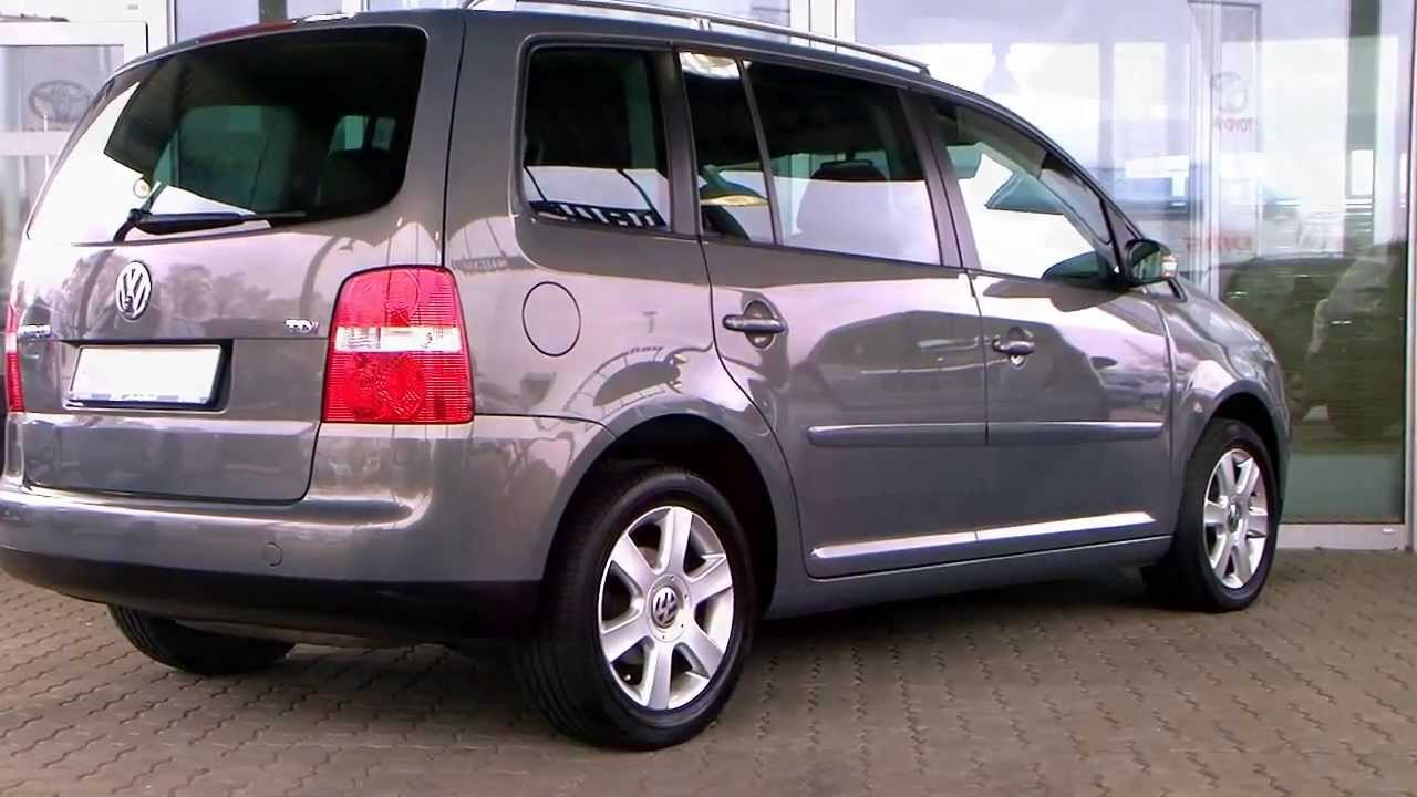 volkswagen touran 1 9 tdi highline 2004 grau metallic 078247 autohaus s k gmbh youtube. Black Bedroom Furniture Sets. Home Design Ideas