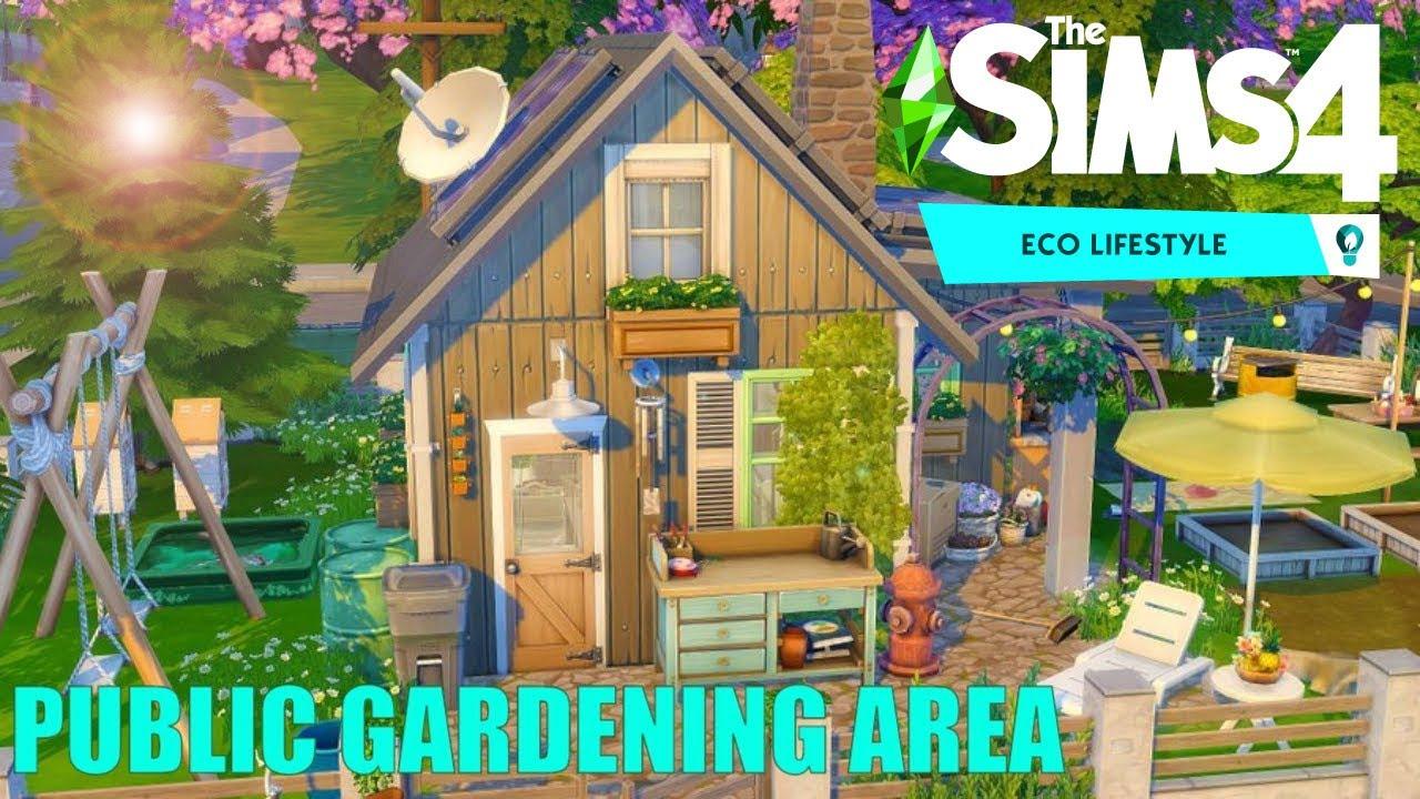 Sims 4 Eco Lifestyle / Public Gardening Area 🌸 no CC