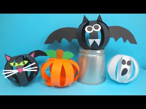 Paper Halloween Crafts | Paper Halloween Decorations