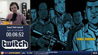#ESAMovember Speedruns - Grand Theft Auto III [Any%] by KZ_FREW