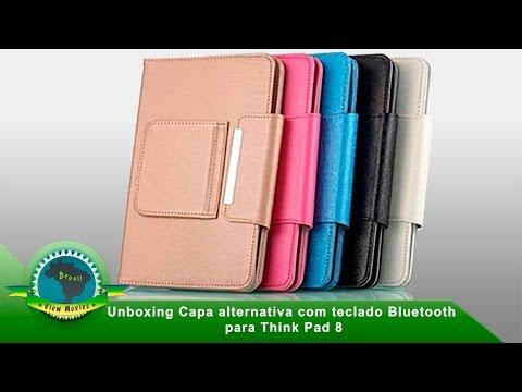 Unboxing Capa alternativa com teclado Bluetooth para ThinkPad 8 Lenovo