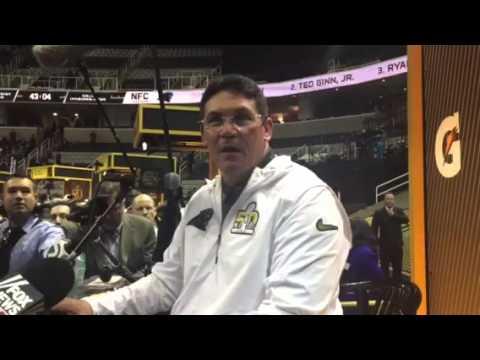 Ron Rivera, Panthers Head Coach On Cam Newton, Cal-Berkeley #SB50