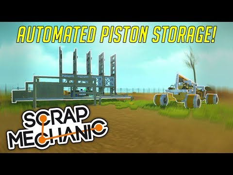 PISTON STORAGE, GHOST TRAIN, AND MORE! - Scrap Mechanic Creations Gameplay  (Viewer Creations)