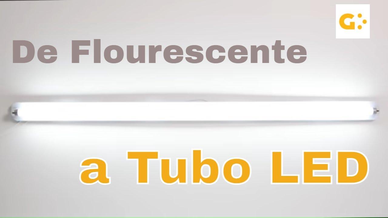 C mo cambiar un tubo fluorescente por un tubo led youtube - Transformateur 220v 12v leroy merlin ...