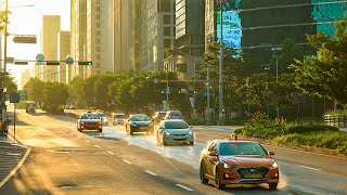 [4K HDR] Before Sunrise Gangnam District In Seoul Korea