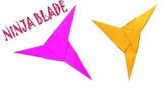 Triple Blade Ninja Easy Origami | How To Make A Paper Ninja Star - Three Point Ninja Star For Kids