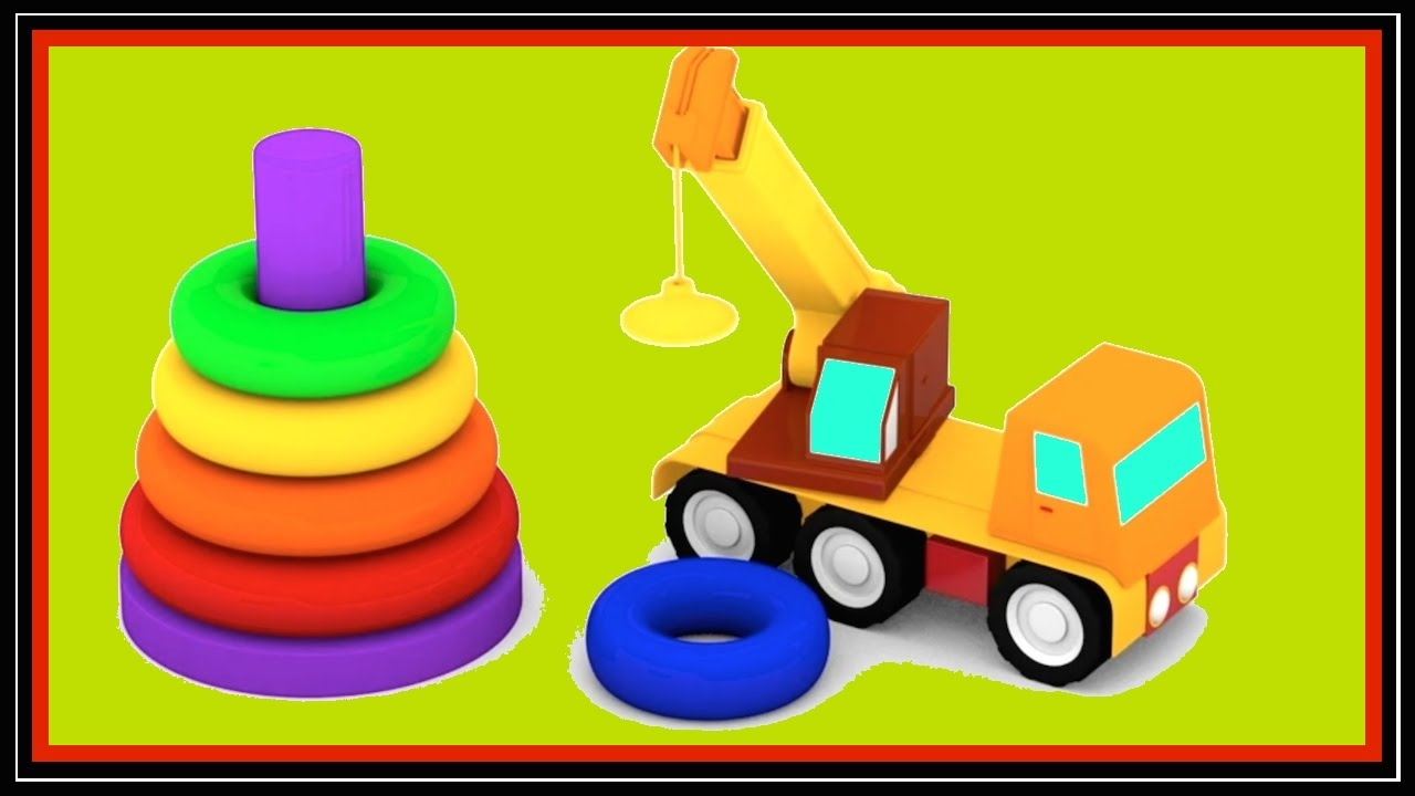 Cartoons Cars Videos For Kids Color Pyramid Learning