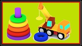 Cartoons Cars Videos for Kids - COLOR PYRAMID - Learning Games & Puzzles