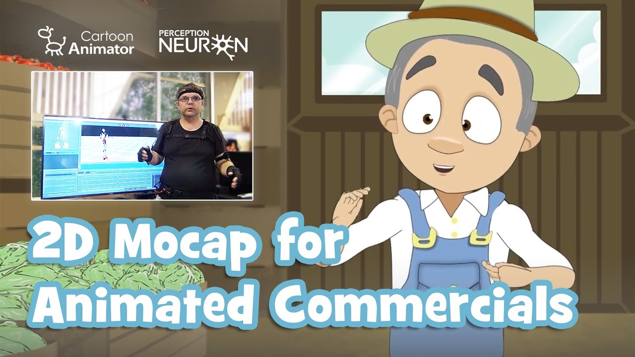 motion capture mocap animation - animated commercial demo video