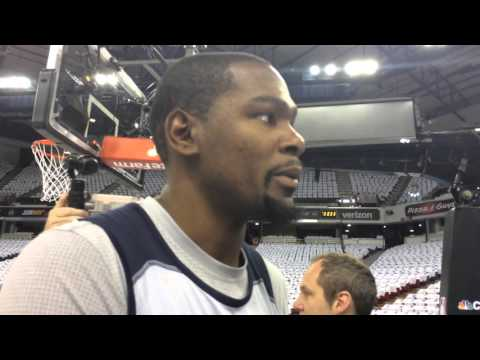 Durant: Shootaround in Sacramento - April 9, 2016
