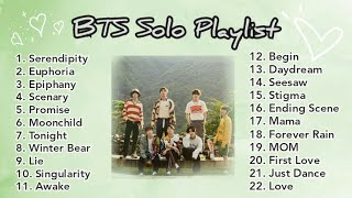 BTS Solo Playlist