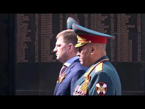 Сергей Фургал принял участие в церемонии возложения цветов к Вечному огню на площади Славы