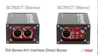 Switchcraft Pro Audio - 700 Series DI Boxes