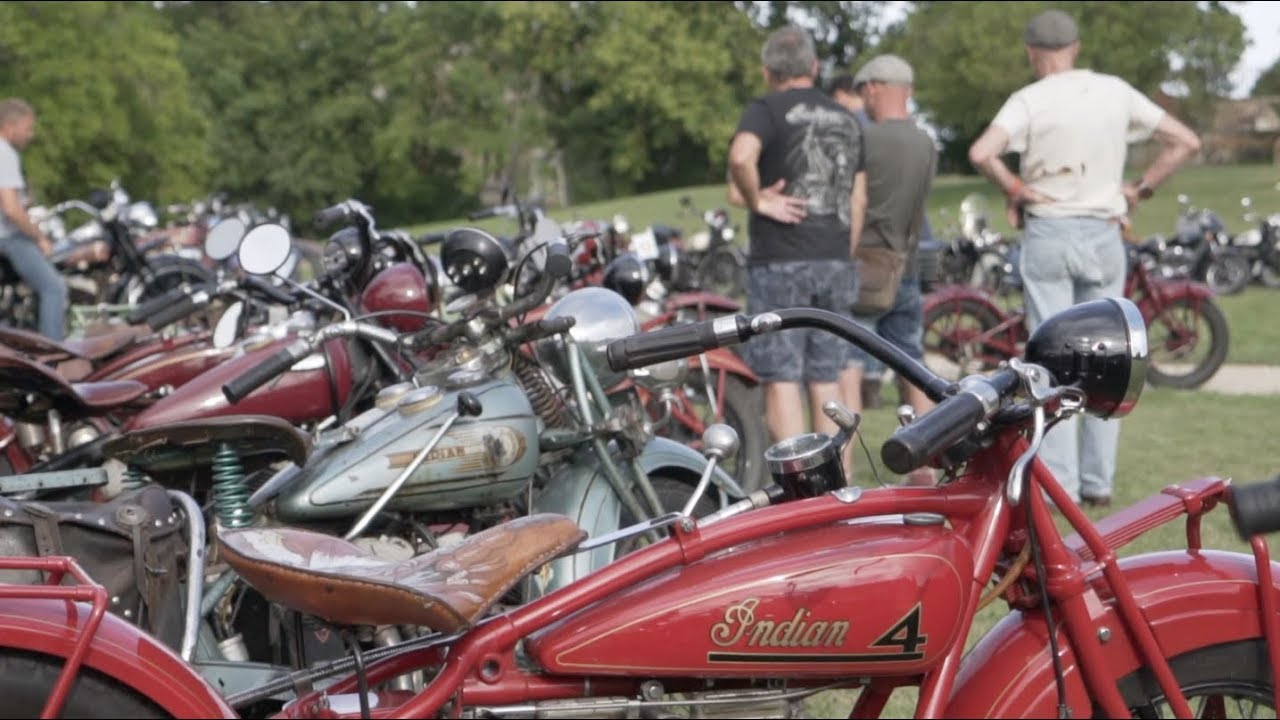 international indian motorcycle rally france 2018 - pre 1955 bikes