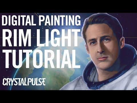 Adding Rim Light or Back Light to a Digital Painting