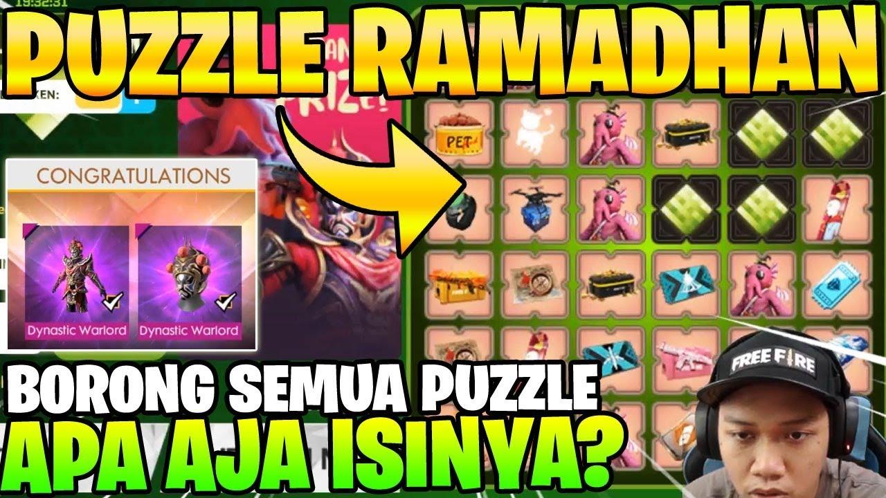 Borong event puzzle ramadhan event gratisan banyak hadiah garena free fire