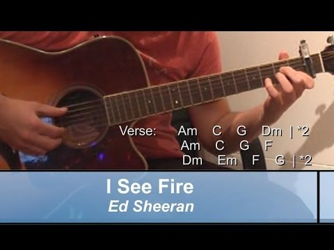 how to play the i see fire riff