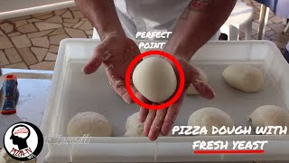 """HOW TO MAKE PIZZA DOUGH WITH FRESH YEAST """"part 1"""" for home"""